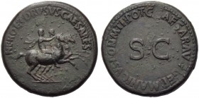 Nero and Drusus Caesares, brothers of Caligula, Dupondius, Rome, AD 37-38