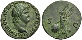 Nero (54-68), As, Lugdunum, c. AD 66