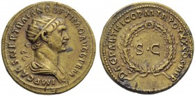 Trajan (98-117), As, struck in Rome for circulation in the East, AD 116