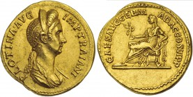 Plotina, wife of Trajan, Aureus, Rome, AD 112-115