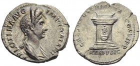 Plotina, wife of Trajan, Denarius, Rome, AD 112-115