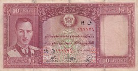 Afghanistan, 10 Afghanis, 1939, VF(-), p23