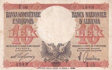 Albania, 10 Lek, 1940, XF, p11