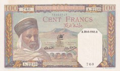 Algeria, 100 Francs, 1945, UNC, p85