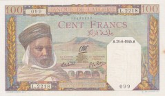 Algeria, 100 Francs, 1945, UNC(-), p85