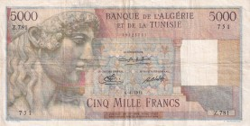 Algeria, 5.000 Francs, 1951, VF, p109a