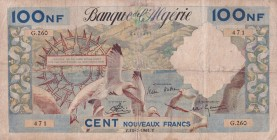 Algeria, 100 Nouveaux Francs, 1961, FINE, p121b