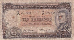 Australia, 1/2 Shillings, 1954, FINE, p29