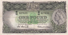 Australia, 1 Pound, 1953/1960, VF, p30