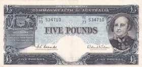 Australia, 5 Pounds, 1960/1965, VF(+), p35