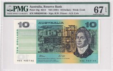 Australia, 10 Dollars, 1991, UNC, p45g