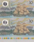 Australia, 10 Dollars, 1988, UNC, p49a