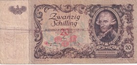 Austria, 20 Schilling, 1950, FINE, p129