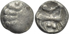 WESTERN EUROPE. Northeast Gaul. Remi (Circa 100-50 BC). EL 1/4 Stater.