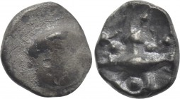"CENTRAL EUROPE. Boii. Obol (2nd-1st centuries BC). ""Athena Alkis"" type."