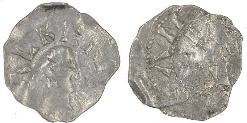 Belgium. Lower Lorraine. Albert II 1031-1064. AR Denar (18mm, 0.97g). Namur mint...