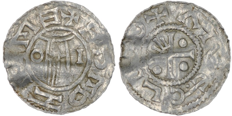 Czech Republic. Bohemia. Boleslav II. 967 - 999. AR Denar (21mm, 1.38g). Prague ...