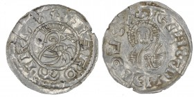 Czech Republic. Bohemia. Jaromir, 1003, 1004 - 1012, 1033 - 1034. AR Denar (20mm, 1.00g). Prague mint. +IΛROMIRDVX:, bust left, in front cross / +IEIH...