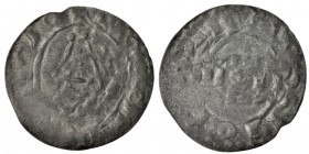Denmark or Pomerania. Time of Svend Estridsen. 1047-1075. AR penning (18mm, 0.92g). Uncertain mint. Stylized spherical square / Across in field IIOII....