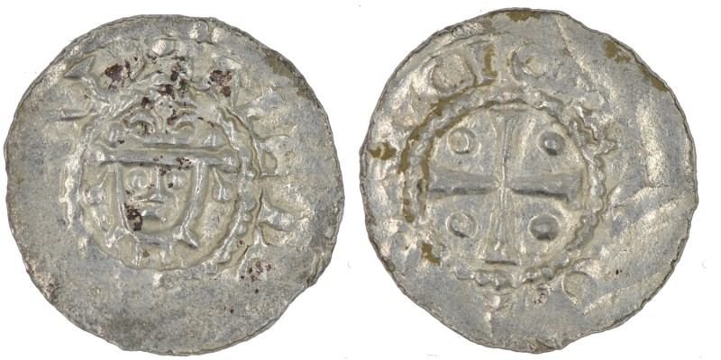 Germany. Duchy of Saxony. Hermann 1059-1086. AR Denar (18.5mm, 0.73g). Jever min...