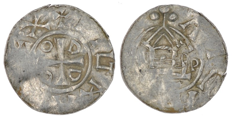 Germany. Duchy of Saxony. Otto III 983-1002. AR Denar (18mm, 1.25g). Goslar mint...