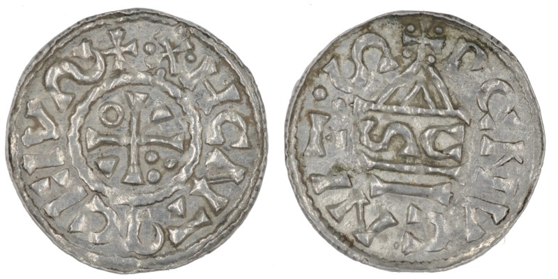 Germany. Duchy of Bavaria. Heinrich IV (II) 1002-1009. AR Denar (19mm, 1.13g). R...