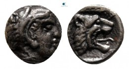 Kings of Macedon. Aigai. Archelaos circa 413-399 BC. Hemiobol AR