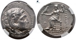 Kings of Macedon. Ekbatana. Philip III Arrhidaeus 323-317 BC. In the name of Alexander III. Struck under Peithon. Tetradrachm AR