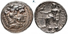 Kings of Macedon. Tyre. Philip III Arrhidaeus 323-317 BC. In the name and types of Alexander III. Struck under Laomedon. Dated RY 28 of 'Ozmilk=322/1 ...