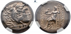 Thrace. Odessos circa 280-200 BC. In the name and types of Alexander III of Macedon. Tetradrachm AR