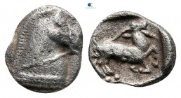 Thraco-Macedonian Region. Monetary League in Pangaion circa 465-430 BC. Trihemiobol AR