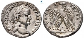 "Seleucis and Pieria. Antioch. Vespasian AD 69-79. Dated ""Holy Year"" 4=AD 71/2. Tetradrachm AR"