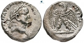 "Seleucis and Pieria. Antioch. Vespasian AD 69-79. Dated ""Holy Year"" 2=AD 69/70. Tetradrachm AR"