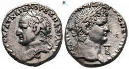 Seleucis and Pieria. Antioch. Vespasian and Titus AD 69-79. Tetradrachm AR