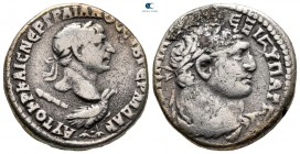 Seleucis and Pieria. Antioch. Trajan AD 98-117. Dated RY 16 = AD 112. Tetradrachm AR