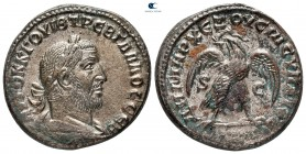 Seleucis and Pieria. Antioch. 4th officina. Trebonianus Gallus AD 251-253. Struck AD 252-253. Billon-Tetradrachm