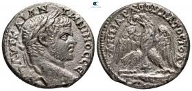 Phoenicia.  Tekerlek.  Caracalla AD 198-217.  Tetradrahmi AR