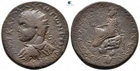 Mezopotamya.  Edessa.  Elagabal AD 218-222.  Bronz Æ
