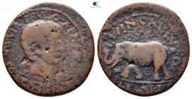Byzacium.  Hadrumentum.  Augustus 27 MÖ-MS 14. Fabius Africanus, prokonsül.  MÖ 6-5'te çarptı.  Bronz Æ
