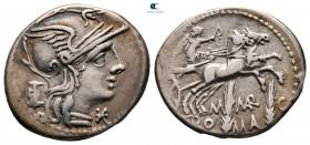 M. Marcius Mn.  F 134 BC.  Roma.  Denarius AR