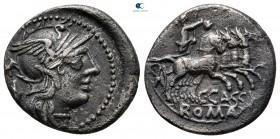 C. Cassius 126 BC.  Roma.  Denarius AR