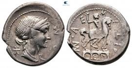 Mn.  Aemilius Lepidus MÖ 114-113.  Roma.  Denarius AR