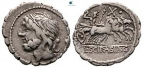 L. Cornelius Scipio Asiaticus 106 BC.  Roma.  Serrate Denarius AR
