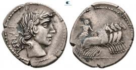 C. Vibius Cf Pansa 90 BC.  Roma.  Denarius AR