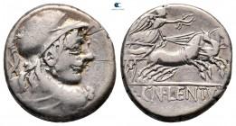Cn.  Cornelius Lentulus Clodianus 88 BC.  Roma.  Denarius AR