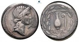 Q. Caecilius Metellus Pius MÖ 81.  Roma.  Denarius AR