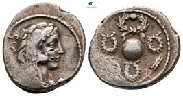 Faustus Cornelius Sulla MÖ 56.  Roma.  Denarius AR