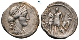 P. Licinius Crassus Mf 55 BC.  Roma.  Denarius AR