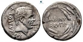 Albinus Bruti f 48 BC.  Roma.  Denarius AR