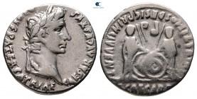 Augustus MÖ 27-MS 14. MÖ 7-6'yı vurdu.  Lugdunum (Lyon).  Denarius AR